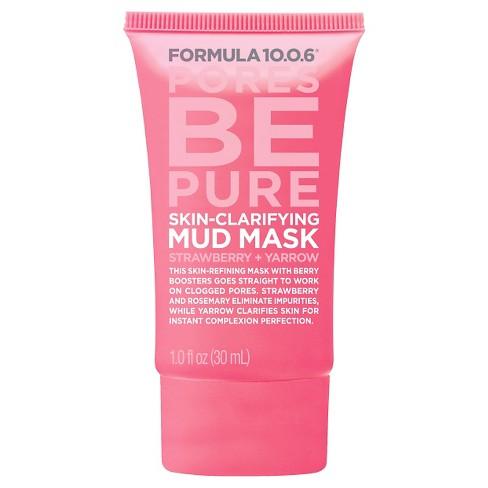 Formula 10.0.6 Clarifying Mud Mask - Strawberry Yarrow - 1oz - image 1 of 1