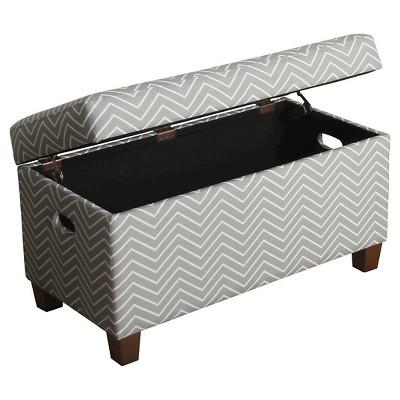 Merveilleux Cameron Storage Bench Kids Storage Ottoman Gray   Homepop : Target