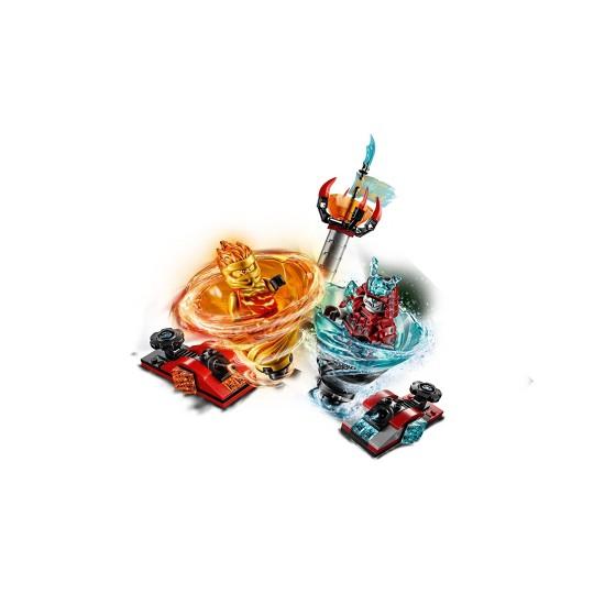 LEGO Ninjago Spinjitzu Slam - Kai vs. Samurai 70684 Building Set with Toy Spinner 164pc image number null