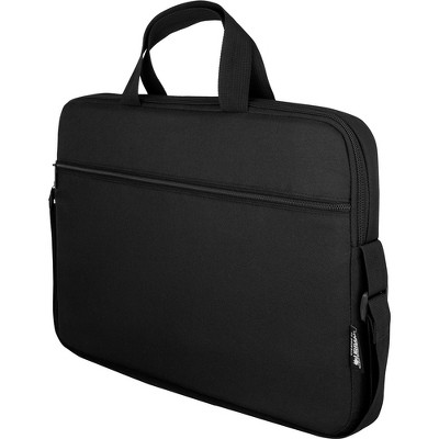 """Urban Factory Nylee Carrying Case for 14"""" Notebook - Black - Shock Absorbing, Water Resistant - 210D Polyester Interior - Handle"""