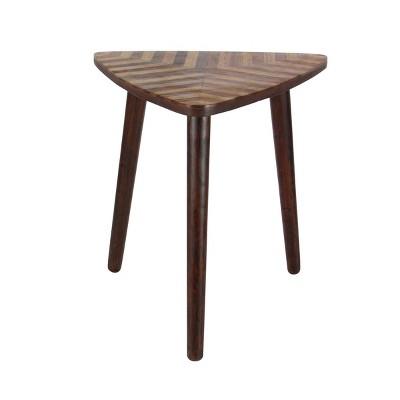 Modern Mango Wood Accent Table Dark Brown - Olivia & May
