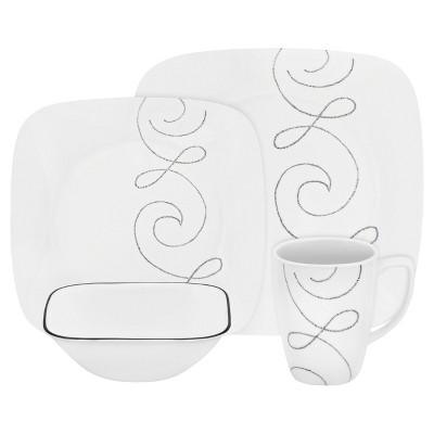 Corelle Square 16pc Dinnerware Set Endless Thread