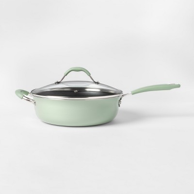 Cravings by Chrissy Teigen 4.5qt Saute Pan with Lid Green