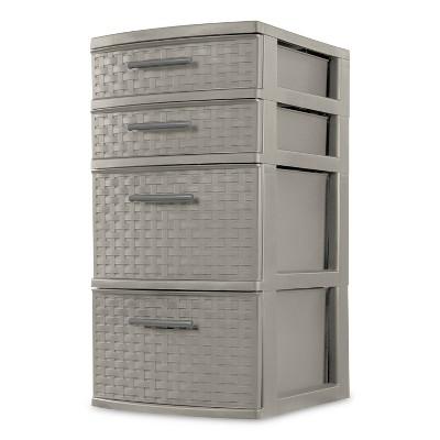 4 Drawer Medium Weave Tower Storage Cart - Room Essentials™