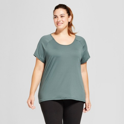 30cfd331 Women's Plus-Size Performance Strappy Back T-Shirt - C9 Champion® Deep Pine  Green 3X : Target