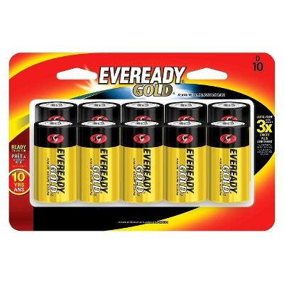 Eveready® Gold 10pk Alkaline Batteries - D-10