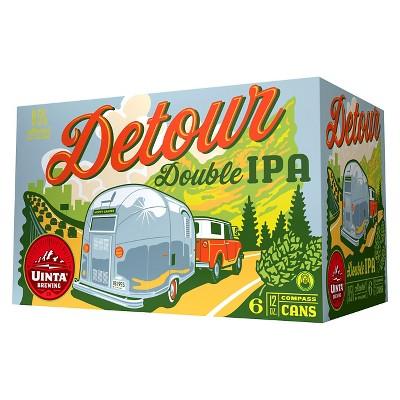 Uinta Detour Double IPA Beer - 6pk/12 fl oz Cans