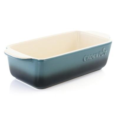 Crock Pot Artisan 1.25 Quart Rectangle Stoneware Bake Pan in Blue