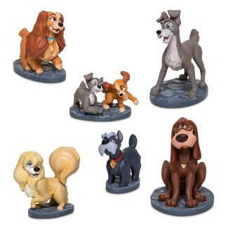 Disney Lady and the Tramp 6pc Figure Set - Disney store