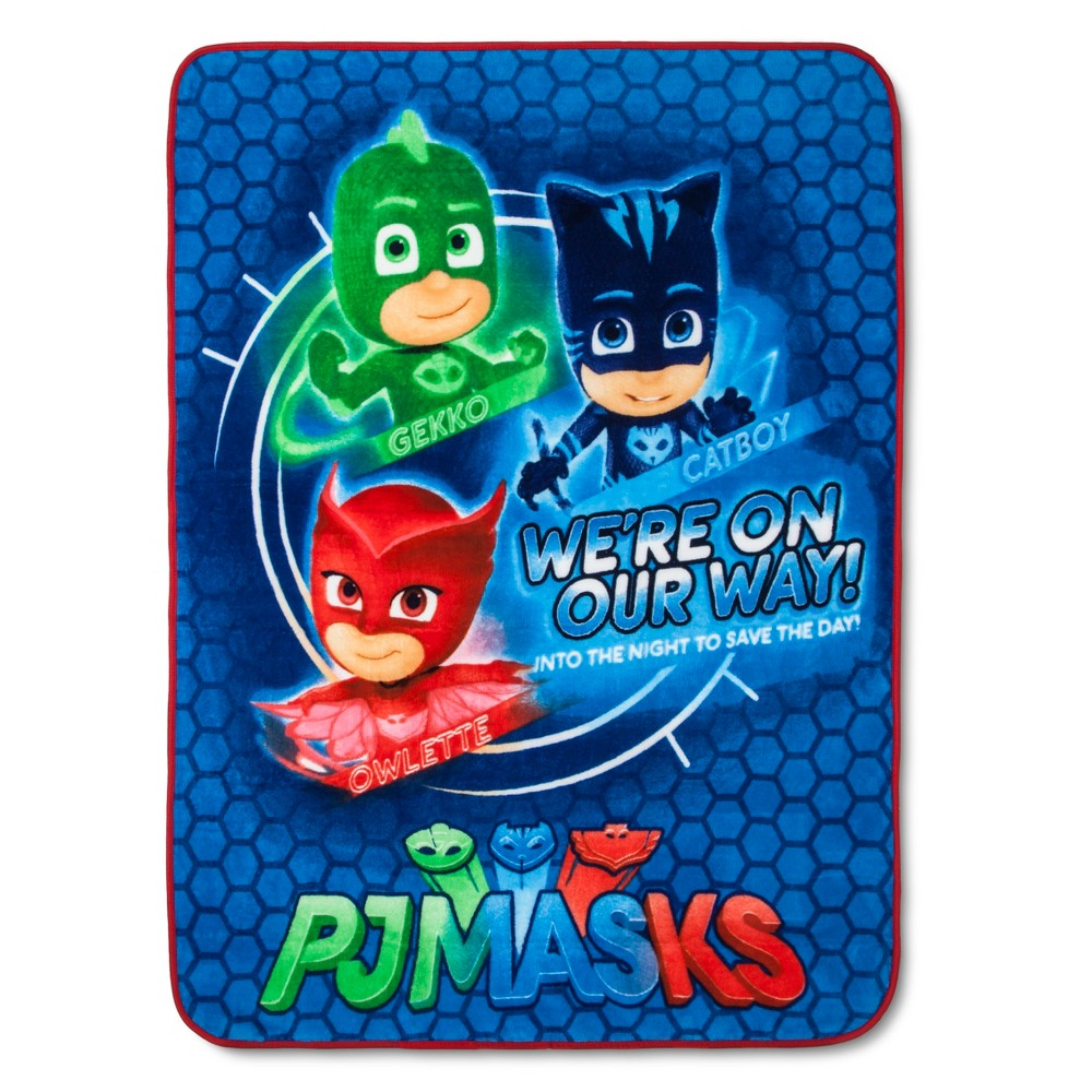 "Image of ""PJ Mask 46""""x60"""" Throw Blanket Blue"""