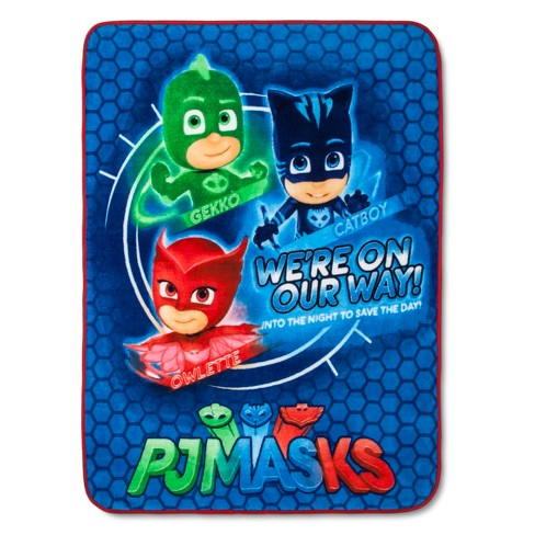 "PJ Mask 46""x60"" Throw Blanket Blue - image 1 of 3"