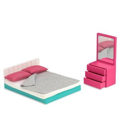 "Lori Dollhouse Furniture for 6"" Dolls - Cozy Bedroom Set"