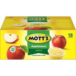 Mott's Sweetened Applesauce Cups - 18ct