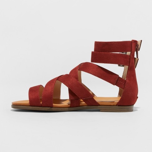 996d76a0bde Women s Rosalee Microsuede Gladiator Sandals - Universal Thread™