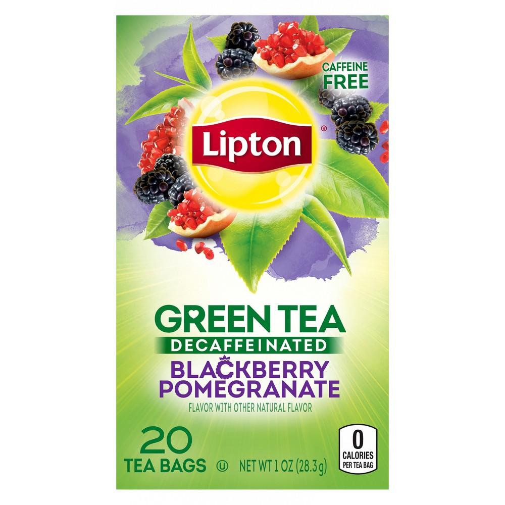 Lipton Decaffeinated Blackberry Pomegranate Green Tea Superfruit - 20ct