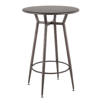 Clara Industrial Round Bar Table - LumiSource