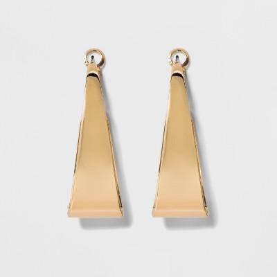 Large Flat Hoop Earrings - A New Day™