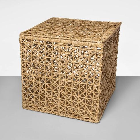 Karina Open Weave Lidded Cube - Opalhouse™ - image 1 of 3