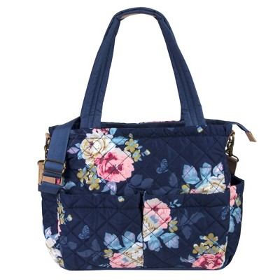 Baby Essentials Quilted Floral Tote