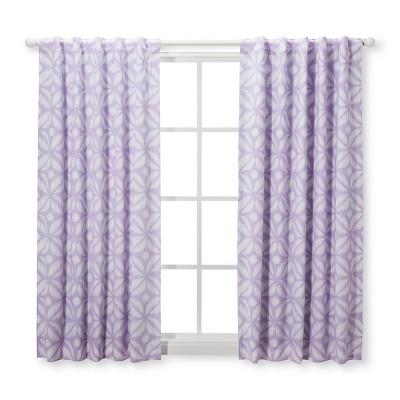 Blackout Curtain Panel Pretty in Purple (42 x 63 )- Cloud Island™ Purple