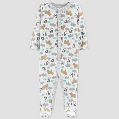 Baby Boys' Animals Interlock Sleep 'N Play - Just One You® made by carter's Almond Newborn