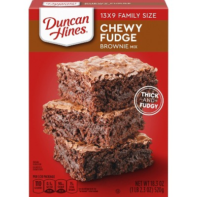 Duncan Hines Chewy Fudge Brownie Mix - 18.3oz