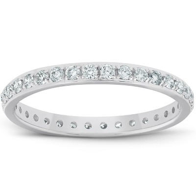 Pompeii3 1/2ct Diamond Wedding Ring Womens Eternity Band 10k White Gold - Size 7