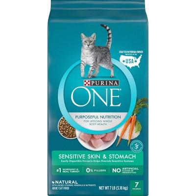 Purina ONE Sensitive Skin & Stomach Adult Premium Dry Cat Food