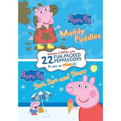 Peppa Pig: Muddy Puddles / Sun, Sea & Snow (DVD)
