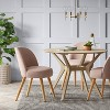 Stene Round Upholstered Dining Chair Textured Woven - Project 62™ - image 2 of 4