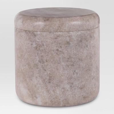 Bath Canister Beige Marble - Threshold™