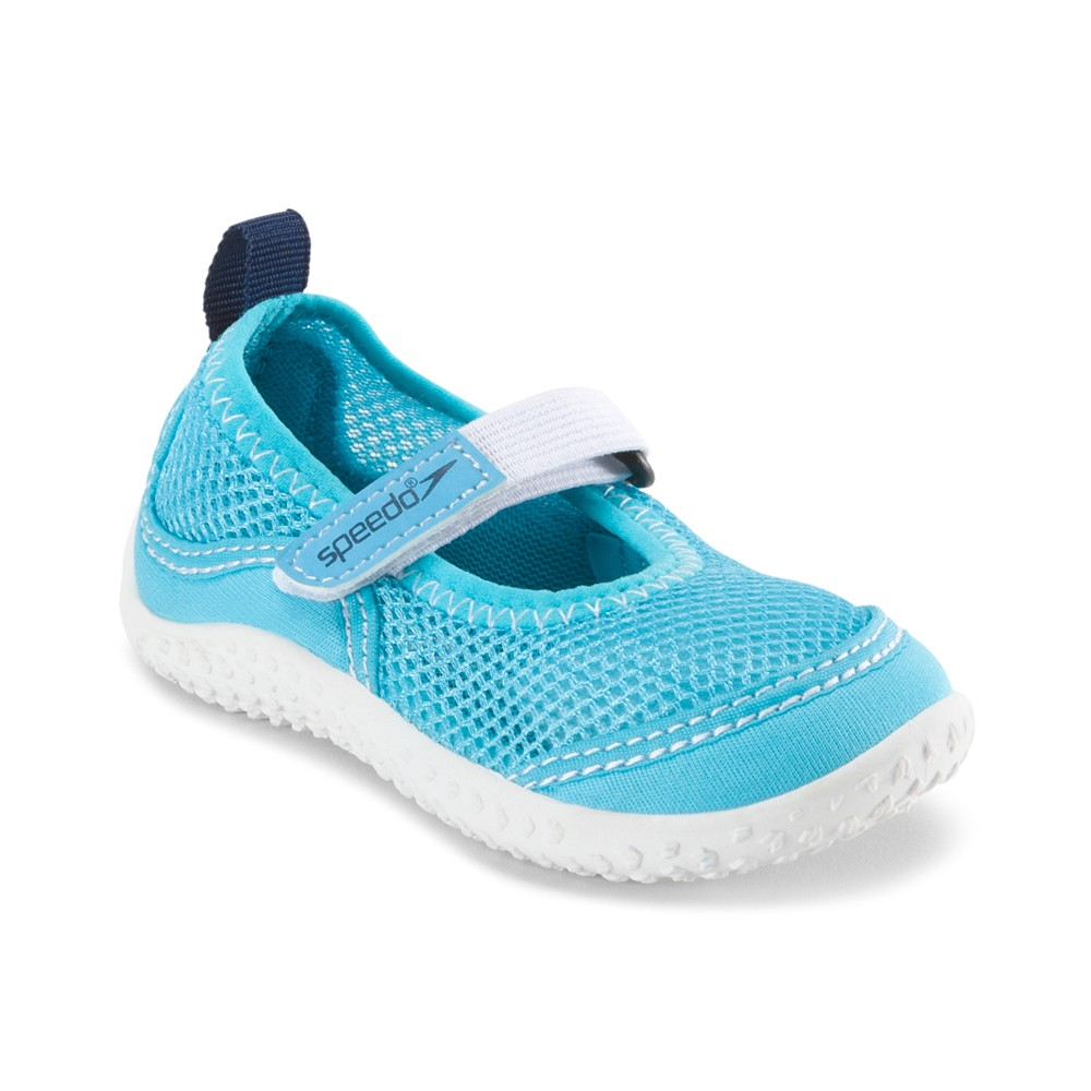 Speedo Toddler Girls' Mary Jane Water Shoes - Cyan (X-Large), Blue