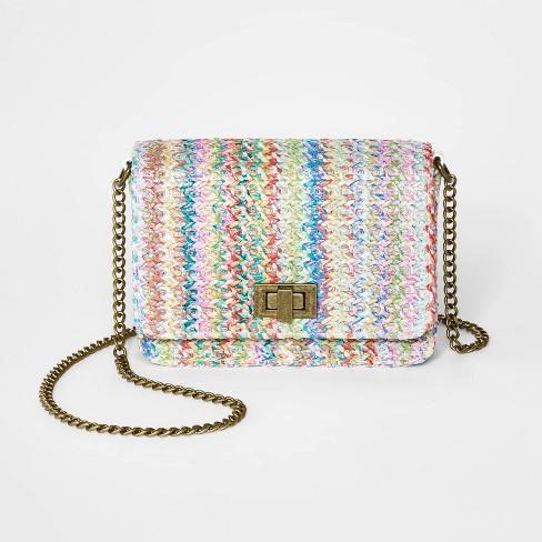 Girls' Straw Turnlock Crossbody Bag - art class™ - image 1 of 1