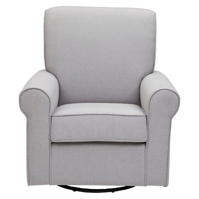 Delta Children Avery Nursery Glider Swivel Rocker Chair - Grey