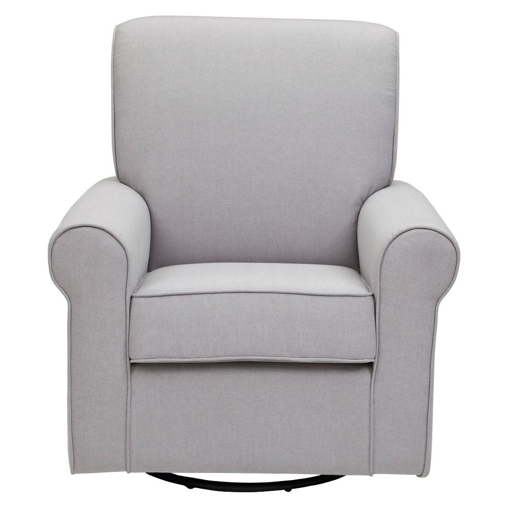 Image of Delta Children Avery Nursery Glider Swivel Rocker Chair - Grey, Gray