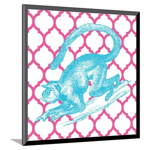 "Bright Menagerie Monkey Mounted Print 10""x11"" - Art.Com - image 1 of 2"