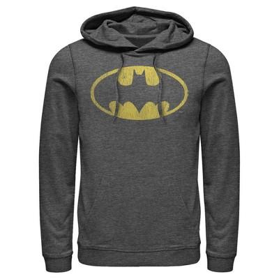Men's Batman Logo Retro Caped Crusader Pull Over Hoodie