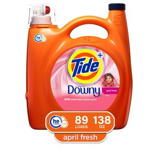Tide Plus A Touch of Downy April Fresh High Efficiency Liquid Laundry Detergent - 138 fl oz