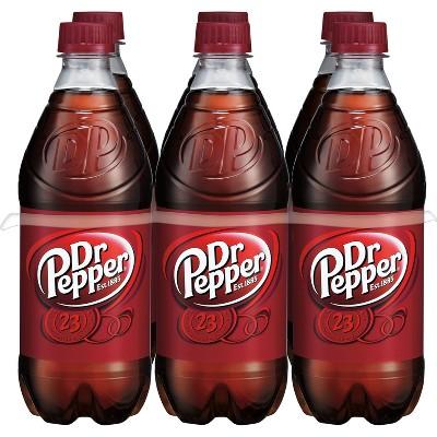 Dr Pepper Soda - 6pk/16 fl oz Bottles