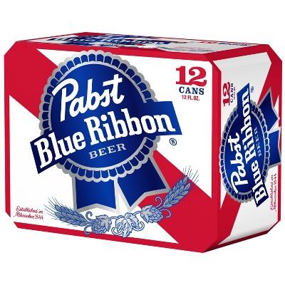Pabst Blue Ribbon Beer - 12pk/12 fl oz Cans