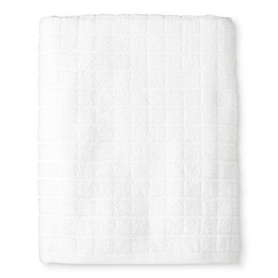 Grid Texture Bath Towel White - Room Essentials™