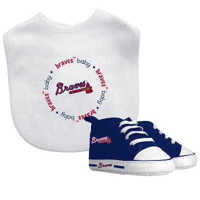 Atlanta Braves Bib & Prewalker Gift Set