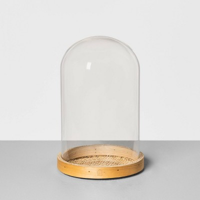 Small Cloche with Woven Base - Hearth & Hand™ with Magnolia
