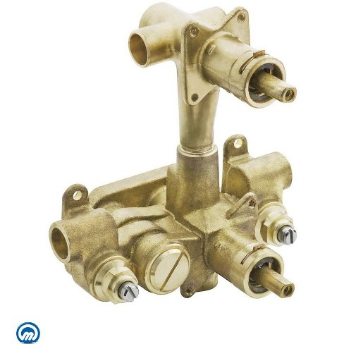 """Moen 3320 1/2"""" IPS Moentrol Pressure Balancing Rough-In Valve and 3-Function Integrated Diverter (With Stops) - image 1 of 1"""