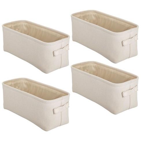 Mdesign Fabric Bathroom Storage Bin Back Of Toilet Storage 4 Pack Cream Target