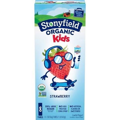 Stonyfield Organic YoKids Low Fat Strawberry Kids' Yogurt Squeezers - 2oz/8ct - image 1 of 4