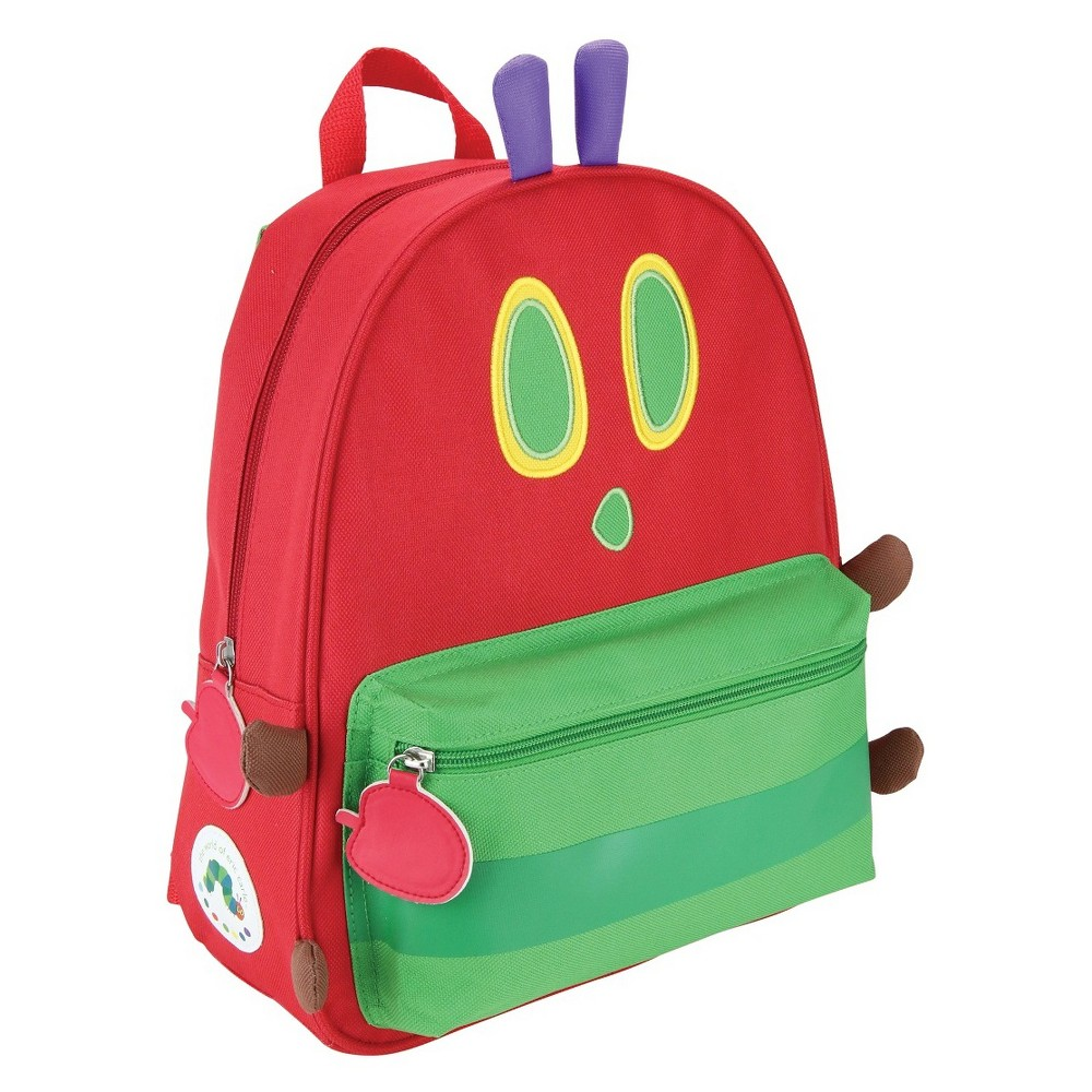 Eric Carle 13.5 Kids' Very Hungry Caterpillar Backpack - Red, Multi-Colored