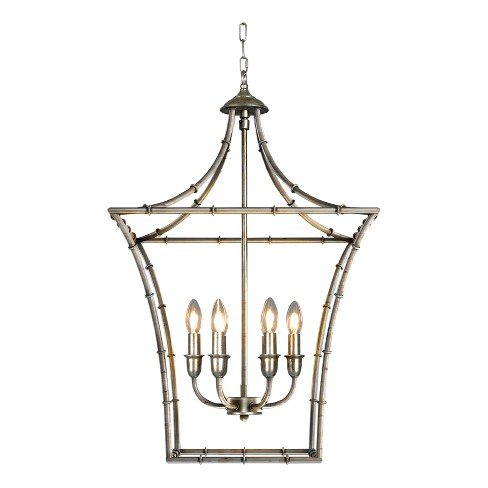 Kenzi Chandelier Ceiling Light Antique Silver - Thy-Hom - image 1 of 6