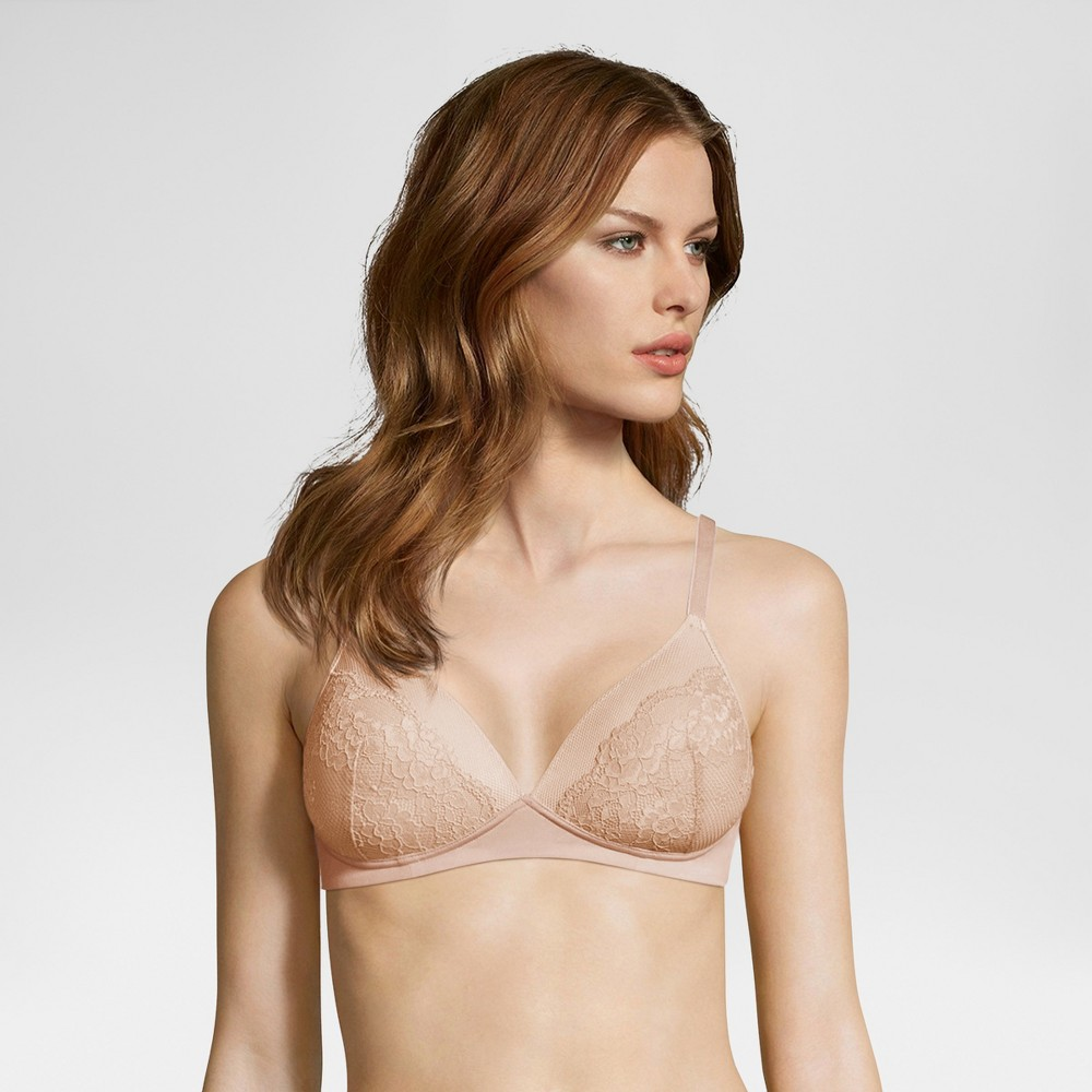 Maidenform Self Expressions Women's Shaping Wireless Lace Cup Bra SE9504-Nude 36DD, Nude