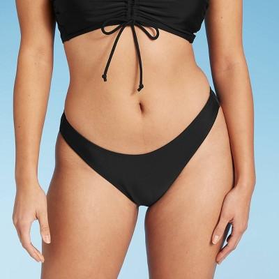 Juniors' High Leg Scoop Bikini Bottom - Xhilaration™ Black
